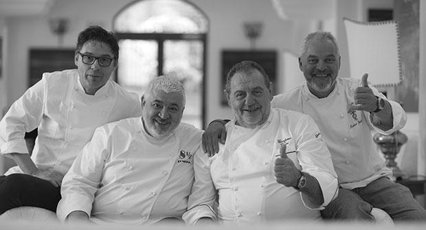 Oriol Balaguer, Umberto Bombana, Gianfranco Vissani, Xavier Pellicer