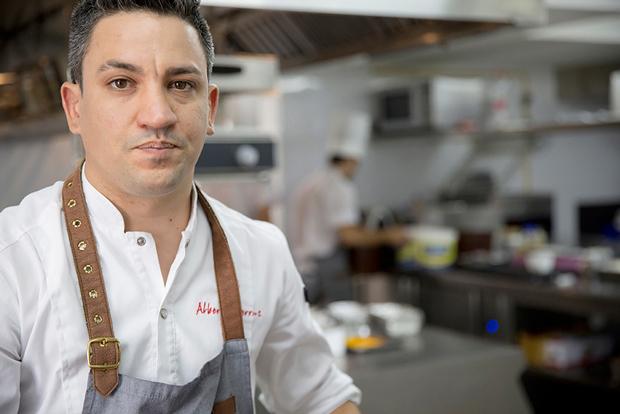 Alberto Ferruz en la cocina