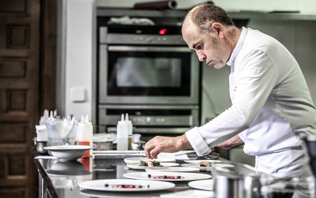 Ignacio Echapresto en la cocina