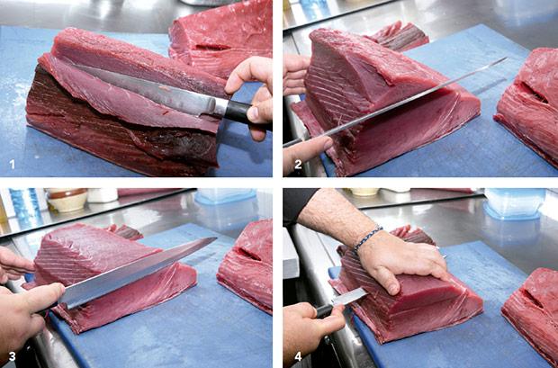 Cómo enfrentarse al atún. Paso 1-4.