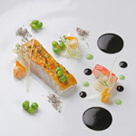 Rodaballo salvaje a la brasa con salteado de frutos de mar y curry verde, del restaurante Lasarte