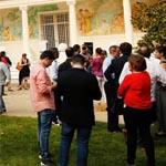 Vistas del  jardín del consulado de Estados Unidos en Barcelona durante la fiesta