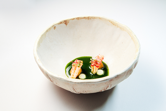 cangrejo de río y ortiga de Restaurante Pablo