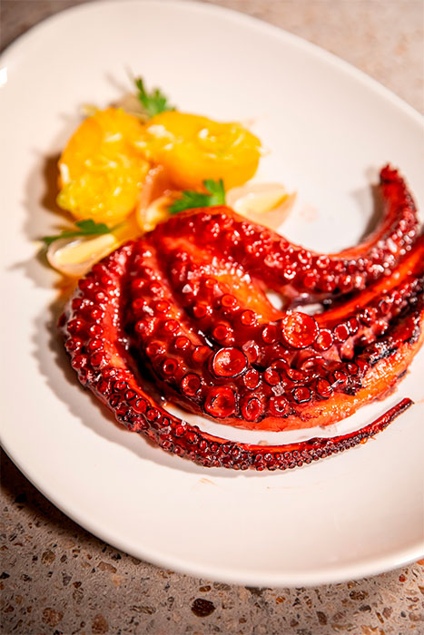 Pulpo bao glaseado