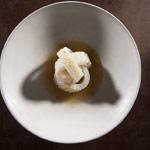 Calamares, cebolla y enebro verde de Christian Puglisi